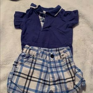 Baby boy short and polo outfit